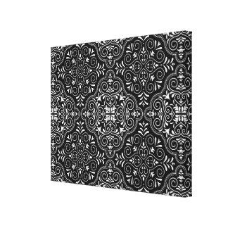 Flourish noir de motif de rococos toiles