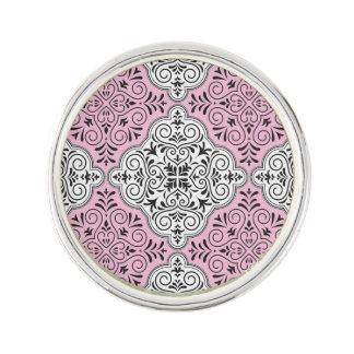 Flourish rose de motif de rococos pin's