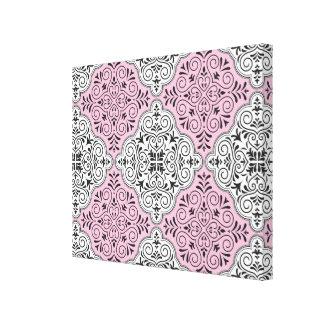 Flourish rose de motif de rococos toiles