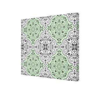 Flourish vert de motif de rococos toiles