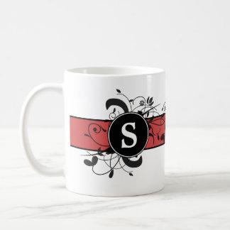 Flourish victorien personnalisé décoré d'un monogr tasse à café
