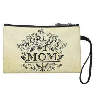Flourish vintage de maman du numéro un du monde pochette avec anse