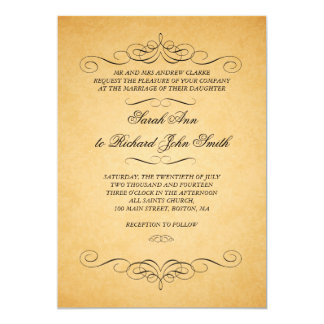Flourish vintage de remous d'invitations de