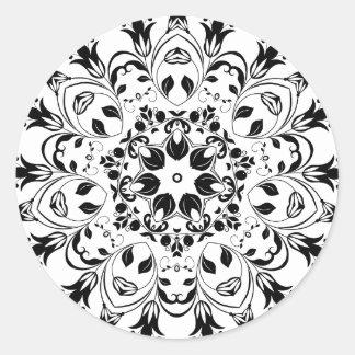 Flourishing-Floral-Design-800px Sticker Rond