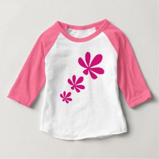 flower5 rose t-shirt pour bébé