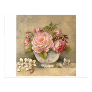 Flower bouquet syringa & sugar bowl ✿ H.Flont Carte Postale