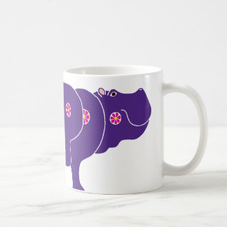 flower hippo mug