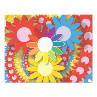 Flower power 2 invitations personnalisées
