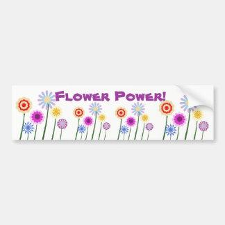 Flower power, adhésif pour pare-chocs coloré de fl autocollant de voiture