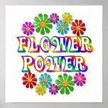 Flower power coloré poster