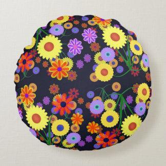 Flower power coussins ronds