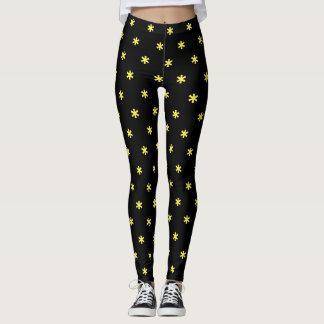 Flower power - jaune leggings