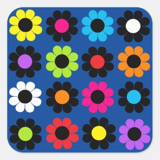 Flower power sticker carré