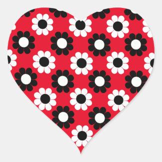Flower power sticker cœur