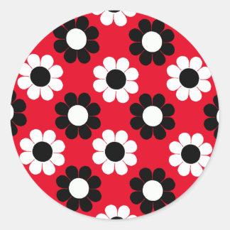 Flower power sticker rond