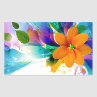 flowers.jpg lumineux sticker rectangulaire