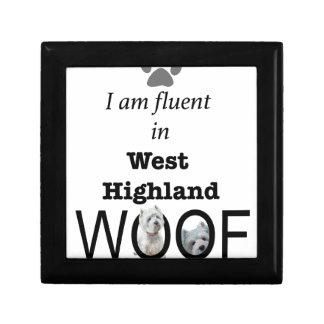 Fluide dans Woof des montagnes occidental Petite Boîte À Bijoux Carrée