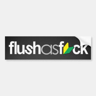 flushasfck (fibre de carbone de faux) autocollant pour voiture