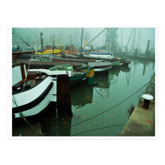 Foggy Harbor Carte Postale