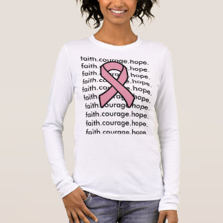 Foi de ruban de cancer du sein t-shirt à manches longues