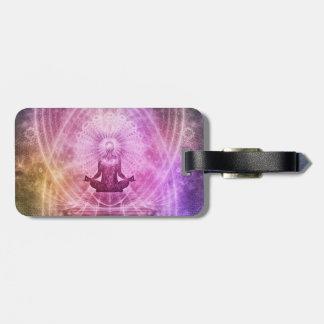Foi de yoga de méditation étiquette à bagage