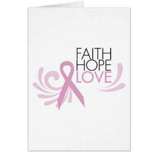 Foi, espoir, amour - appui de cancer du sein cartes