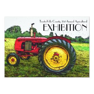 Foire agricole, traction de tracteur, exposition carton d'invitation  12,7 cm x 17,78 cm