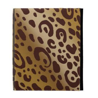 Folio d'iPad d'empreinte de léopard Étui iPad Folio