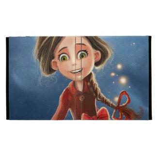 folio heureux d'iPad de fille de sourire Coque Folio iPad