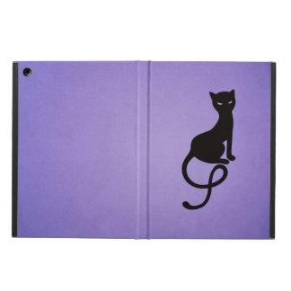 Folio mauvais aimable pourpre de chat noir
