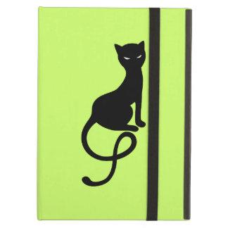 Folio mauvais aimable vert de chat noir