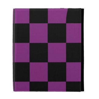 Folio noir et pourpre d'iPad de contrôleur Coques iPad