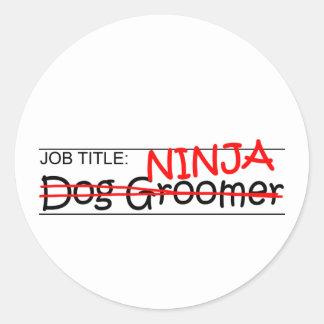 Fonction Ninja - Groomer de chien Sticker Rond