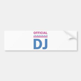 fonctionnaire DJ Autocollant Pour Voiture