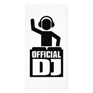 Fonctionnaire DJ Cartes De Vœux Avec Photo