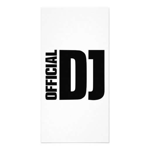 Fonctionnaire DJ Photocarte Personnalisée