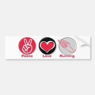 Fonctionnement d'amour de paix autocollant de voiture