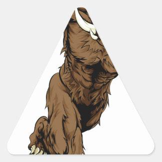 Fonctionnement de caractère de verrat sticker triangulaire