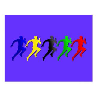 fonctionnement de coureurs de 100m 200m 400m 800m carte postale