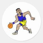 fonctionnement de joueur de basket adhésifs ronds