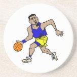 fonctionnement de joueur de basket dessous de verre