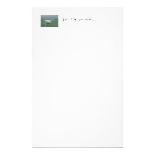 Fonctionnement de vache papier à lettre personnalisable