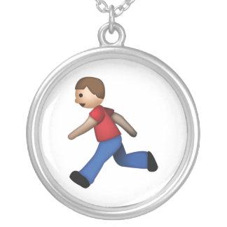 Fonctionnement d'homme - Emoji Pendentif Rond