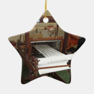 Fonctionnement vintage antique de machine de ornement étoile en céramique