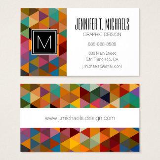 Fond vintage de motif de triangles cartes de visite