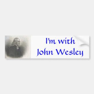 Fondateur de méthodiste de John Wesley Autocollant De Voiture