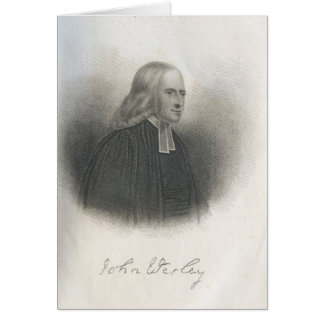 Fondateur de méthodiste de John Wesley Carte De Vœux