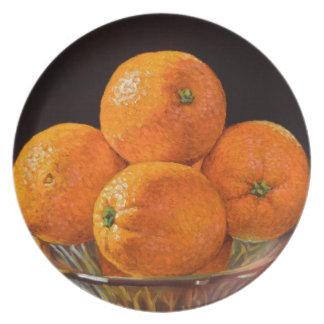 Fonderie orange assiette