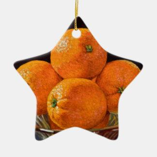 Fonderie orange ornement étoile en céramique