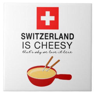 Fondue suisse drôle carreau